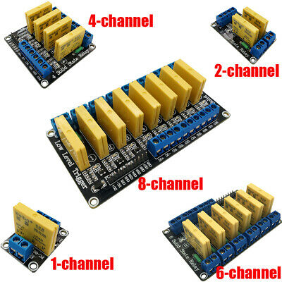 AU33.17 • Buy 5V 12V 24V 1/2/4/6/8Channel DC-DC Solid State Relay Module Low Level For Arduino