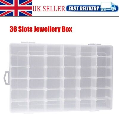 36 Compartment Organiser Storage Box Nuts Beads Jewellery Earring Craft Nail Art • 7.59£