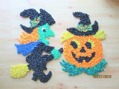$ CDN19.99 • Buy 2 Vintage Plastic Halloween Decorations-the Witch And Pumpkin Made In Usa