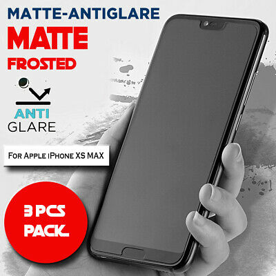 AU5.99 • Buy 3X Matte Frosted Antiglare Full Cover Screen Protector For Apple IPhone XS MAX