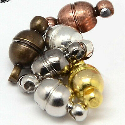 Strong Magnetic Oval Clasps Caps Connectors Jewellery Making Necklaces- HD057 • 2.29£