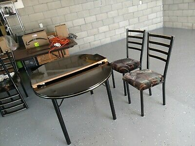 $100 • Buy Black Dining Table With Six Chairs