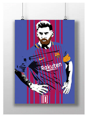 Lionel Messi Poster Soccer Football Abstract Art Barca Fc Barcelona A4 A3 Size • 6.95£