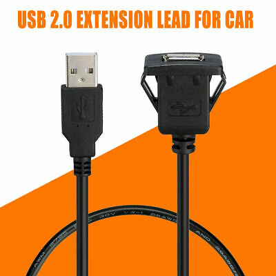 AU6.99 • Buy Car Dash Board Male To Female Socket Flush Mount USB Extension Panel Cable