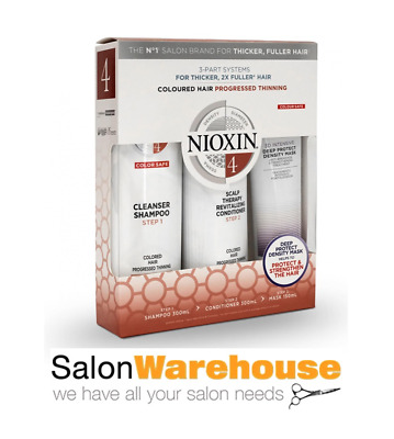 AU64.95 • Buy Nioxin System 4 Colored Hair Progressively Thinning Shampoo Conditioner Mask Tri