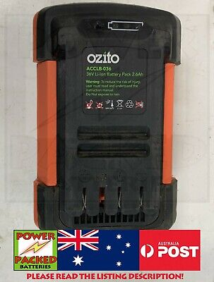 AU289 • Buy 20 X SAMSUNG INR18650-25R Or REPACK YOUR Ozito ACCLB-036 36V Li-Ion Battery 5AH
