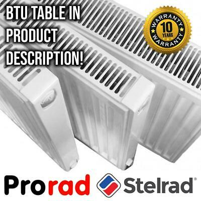 Compact Radiator PRORAD By STELRAD | P+ K1 K2 | Type 11 21 22 | ALL DIMENSIONS! • 48.75£