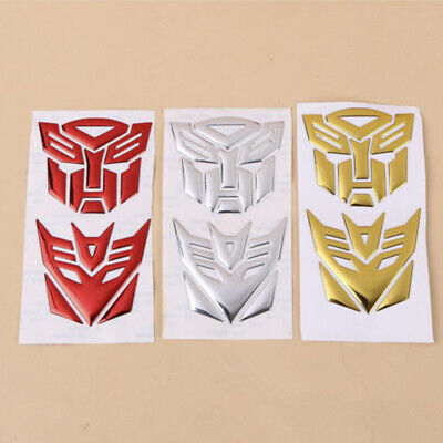 $ CDN1.62 • Buy Fashion 3D Autobot Transformers Decepticon Decal Car Sticker Motorcycle Decor X2