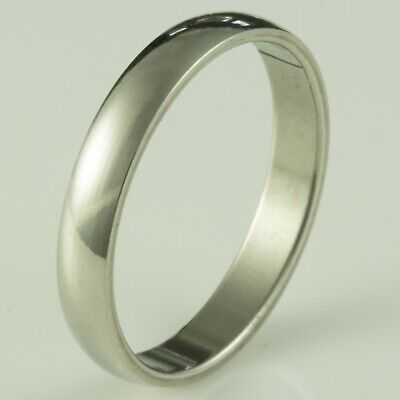4mm Stainless Steel Mens & Womens Wedding Band - New Silver Ring Sizes J To Z+2 • 4.99£