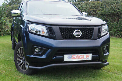 Black Spoiler Bar To Fit Nissan Navara NP300 Twisted Rhino Style City Front Bar • 159£