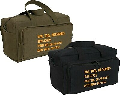 $18.99 • Buy Canvas Mechanics Tool Bag Military Stamped Heavy Duty With Outer Pockets