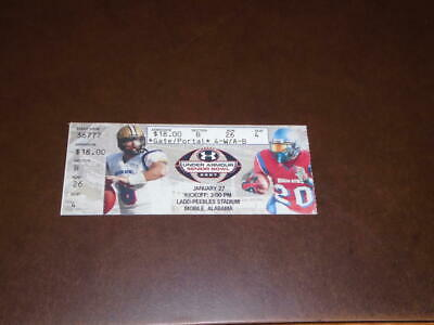 $9.99 • Buy 2007 Senior Bowl College Football Ticket Stub Tony Hunt Penn State Mvp