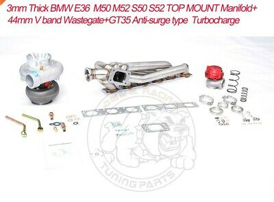 $1029 • Buy TOP MOUNT Manifold+44mm V Band Wastegate+T3 GT35 Turbo For E36/M50/M52/S50/S52