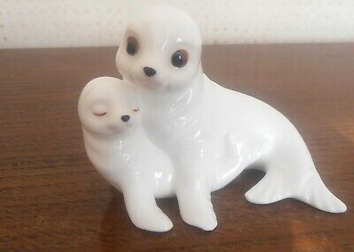 Royal Osborne Bone China Seal Mum And Pup.  Perfect Condition.  Very Cute! • 6.99£