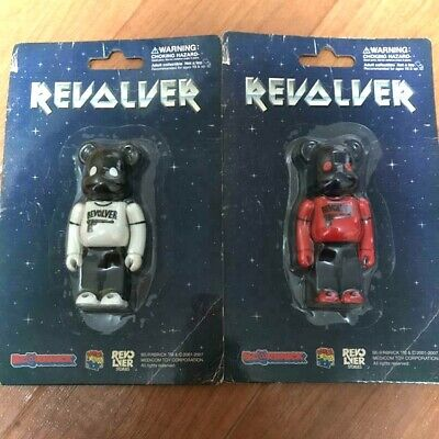 $154.99 • Buy BE@RBRICK 100% REVOLVER White & Red Ver. Set Lot Of 2 Rare Medicom Bearbrick