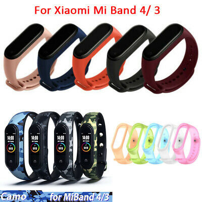 $1.46 • Buy For Xiaomi Mi Band 4/ 3 Strap Replace Bracelet Silicone Wristband Watch Band-WI