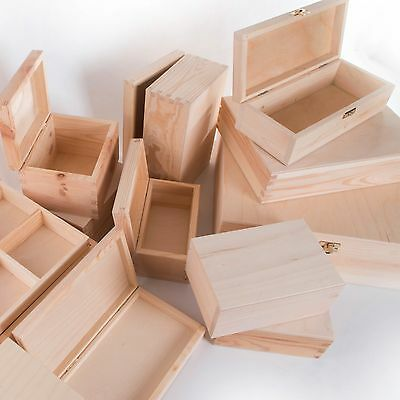 £7.69 • Buy Small Wooden Boxes / SELECTION / Trinket Keepsake Jewellery Memory Storage Box