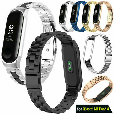 $11.99 • Buy US For Xiaomi Mi Band 4/3 Stainless Steel Metal Watch Band Belt Strap Bracelet
