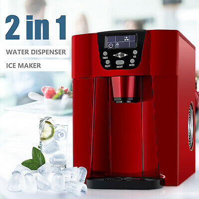 $132.99 • Buy 26LBS Electric 2 In 1 Countertop Ice Maker Machine Compact Water Dispenser Red