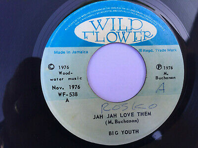 Big Youth, Jah Jah Love Them/ Oven Baking 7  Vinyl, Wild Flower 1976 • 10£