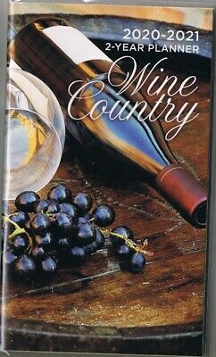 $ CDN4.97 • Buy Wine Country 2020-2021 - 2 Year Pocket Calendar Agenda Planner Appointment Book