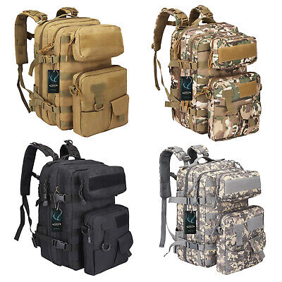 AU39.99 • Buy 40L Outdoor Military Rucksack Tactical Backpack Camouflage Hiking Camping Bag AU