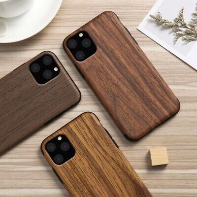 For IPhone 11 Pro Max Natural Wooden Pattern TPU Dual Layer Hybrid Case Cover • 5.75£