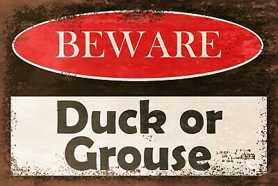 £3.49 • Buy Low Ceiling Warning, Duck Or Grouse, Vintage Retro Style Metal Sign Plaque, Pub