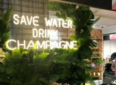 £407 • Buy  Save Water Drink Champagne  NEON LIGHT LED FLEX SIGN/LAMP GIFT HOMEWARE