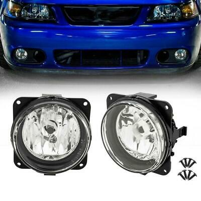 $31.29 • Buy PAIR For 2003-2004 Ford Mustang Cobra Fog Lights Clear Lens W/Bulb Front