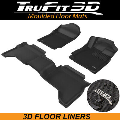 AU185 • Buy Trufit Floor Liners For Ford Ranger PX3 Dual Cab 2018-2021 3D Rubber Floor Mats