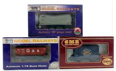 Dapol, Airfix, Oo Scale Rake Of 3 Mixed Wagons, Tank,hopper,vent Van (14c • 29.50£