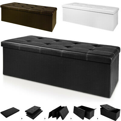Ottoman Storage Bench Seat Foot Stool Bedroom Living Room Hallway Pouffe Chest • 32.95£