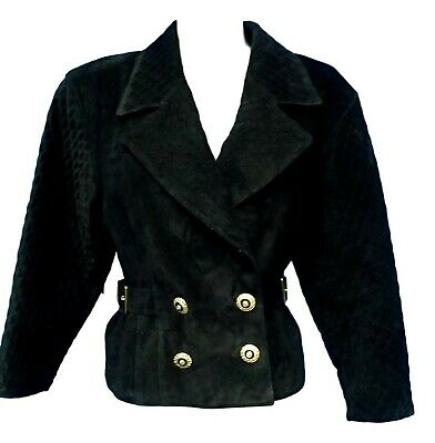 $ CDN50.74 • Buy 02825 Danier Women Coat Jacket Genuine Real Leather Black Medium Bust 36 Small