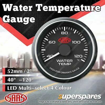 AU68.03 • Buy SAAS Water Temp Gauge 40 Degree - 120 Degree 52mm Black Face Muscle Series