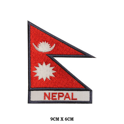 Nepal National Flag Embroidered Patch Iron On Sew On Badge For Clothes Etc • 1.99£