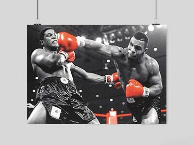 £6.95 • Buy Iron Mike Tyson Boxing Poster Wall Art Sport Red Gloves  A3 A4 Size