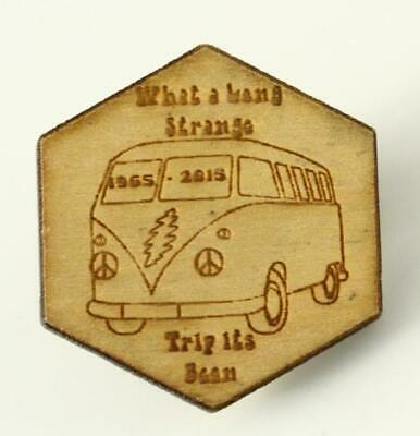 $34.99 • Buy Memorial Jewelry VW Bus Wood Pin Grateful Dead What A Long Strange Trip Its Been