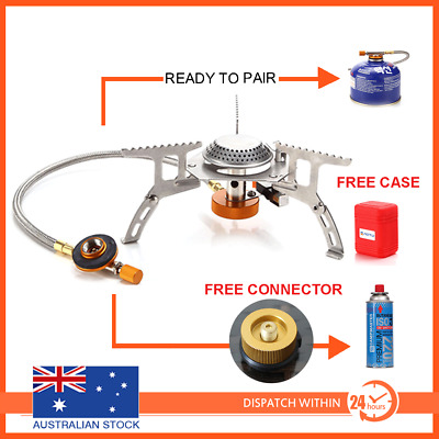 AU21.95 • Buy Outdoor Gas Jet Portable Stove Burner Cooking Hiking Camping Gear Cooker Picnic