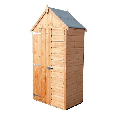 3x2 TOOL STORAGE APEX SHED VERTICAL GARDEN PATIO STORE WOODEN SHIPLAP WOOD 3FT • 199.94£