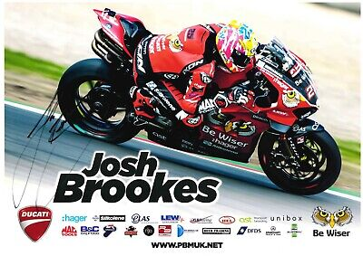 £15 • Buy Josh Brookes British Superbikes BSB A4 Signed