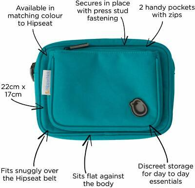 Hippychick Hipseat Baby Accessory Pouch - Teal • 9.99£