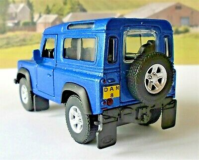 Land Rover Defender PERSONALISED PLATES Boys Toy Model Car Birthday Present New • 7.95£