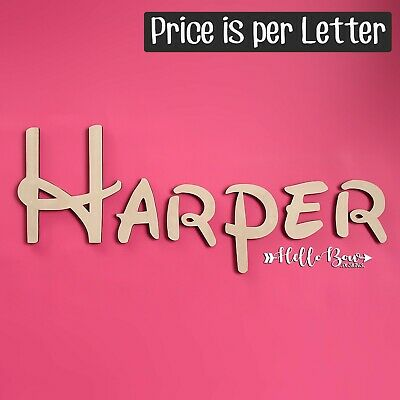 AU2.20 • Buy Disney Font LETTERS 15cm HIGH Custom Cut Words & Names PRICE PER LETTER