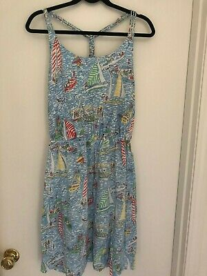 Lilly Pulitzer Cotton Dress With Sailboats Size Medium • 30$