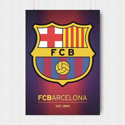 Fc Barcelona Football Poster Spain Barca Print Art A4 A3 Size • 10.95£