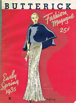 $12.71 • Buy 1930s Butterick Early Spring 1935 Fashion And Pattern Book Catalog E-Book On CD