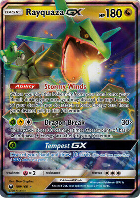 $ CDN22.72 • Buy Rayquaza GX 109/168 Ultra Rare Pokemon Card (SM Celestial Storm)
