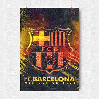 Fc Barcelona Football Poster Spain Barca Print Messi Art A4 A3 Size • 6.95£