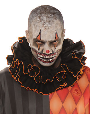 $ CDN13.07 • Buy Clown Collar Orange And Black Adult Male Halloween Costume Accessories- One Size